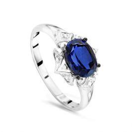 Кольцо с сапфирами и бриллиантами из белого золота VALTERA 54343