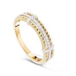 Кольцо с бриллиантами из розового золота VALTERA 74381