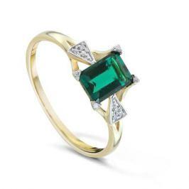 Кольцо с изумрудами и бриллиантами из желтого золота VALTERA 84187