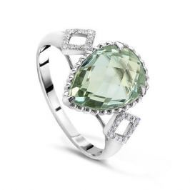 Кольцо с аметистами и бриллиантами из белого золота VALTERA 49268