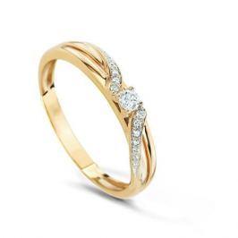 Кольцо с бриллиантами из розового золота VALTERA 74728