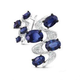 Серьги с сапфирами и бриллиантами из белого золота VALTERA 48701