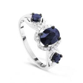 Кольцо с сапфирами и бриллиантами из белого золота VALTERA 50725