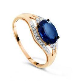 Кольцо с сапфирами и бриллиантами из розового золота VALTERA 71770