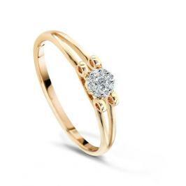Кольцо с бриллиантами из розового золота VALTERA 49339