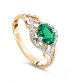 Кольцо с изумрудами и бриллиантами из розового золота VALTERA 62381