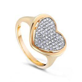 Кольцо с бриллиантами из желтого золота VALTERA 57896
