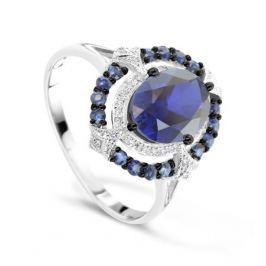 Кольцо с сапфирами и бриллиантами из белого золота VALTERA 70024