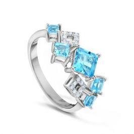 Кольцо с бриллиантами и топазами из белого золота VALTERA 47299