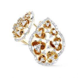 Серьги с бриллиантами из желтого золота VALTERA 57917