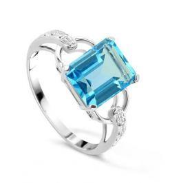Кольцо с бриллиантами и топазами из белого золота VALTERA 48303