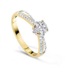 Кольцо с бриллиантами из розового золота VALTERA 57738