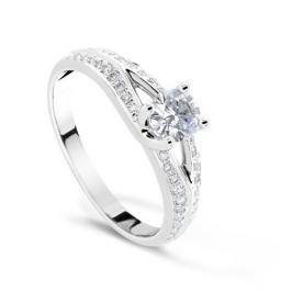 Кольцо с бриллиантами из белого золота VALTERA 69527