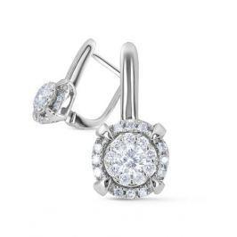 Серьги с бриллиантами из белого золота VALTERA 72826