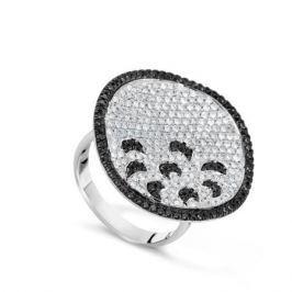 Кольцо с бриллиантами из белого золота VALTERA 61048