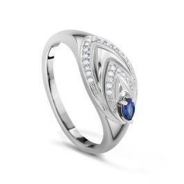 Кольцо с сапфирами и бриллиантами из белого золота VALTERA 17530