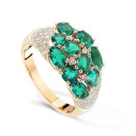 Кольцо с изумрудами и бриллиантами из желтого золота VALTERA 67745