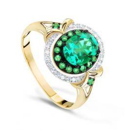 Кольцо с изумрудами и бриллиантами из желтого золота VALTERA 74173