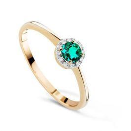 Кольцо с изумрудами и бриллиантами из розового золота VALTERA 65395