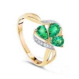 Кольцо с изумрудами и бриллиантами из розового золота VALTERA 44800