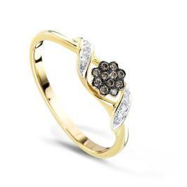 Кольцо с бриллиантами из желтого золота VALTERA 57988