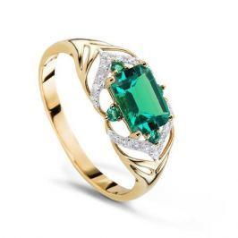 Кольцо с изумрудами и бриллиантами из розового золота VALTERA 62813