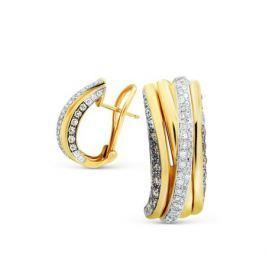 Серьги с бриллиантами из желтого золота VALTERA 73960
