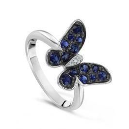 Кольцо с сапфирами и бриллиантами из белого золота VALTERA 75943