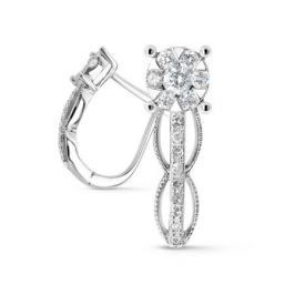 Серьги с бриллиантами из белого золота VALTERA 72848