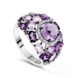 Кольцо с полудрагоценными камнями из белого золота VALTERA 55120