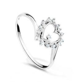 Кольцо с бриллиантами из белого золота VALTERA 22201