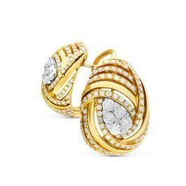 Серьги с бриллиантами из желтого золота VALTERA 73854