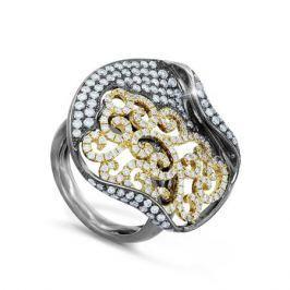 Кольцо с бриллиантами из белого золота 33945