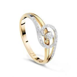 Кольцо с бриллиантами из желтого золота VALTERA 41240