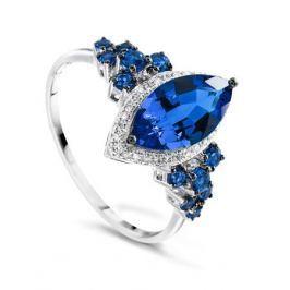 Кольцо с сапфирами и бриллиантами из белого золота VALTERA 75426
