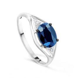 Кольцо с сапфирами и бриллиантами из белого золота VALTERA 48472