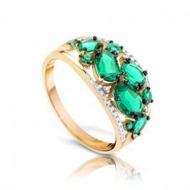 Кольцо с изумрудами и бриллиантами из желтого золота VALTERA 92609