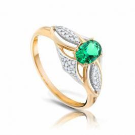 Кольцо с изумрудами и бриллиантами из розового золота VALTERA 93466