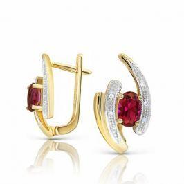 Серьги с рубинами и бриллиантами из розового золота VALTERA 94228