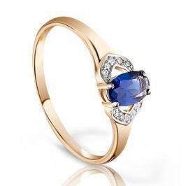 Кольцо с сапфирами и бриллиантами из розового золота VALTERA 95202
