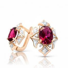 Серьги с рубинами и бриллиантами из розового золота VALTERA 94465