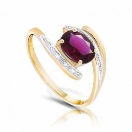 Кольцо с рубинами и бриллиантами из розового золота VALTERA 94468