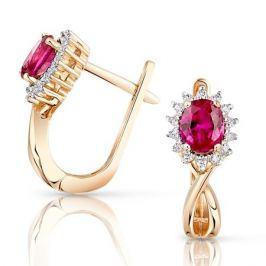 Серьги с рубинами и бриллиантами из розового золота VALTERA 95207