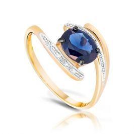 Кольцо с сапфирами и бриллиантами из розового золота VALTERA 94524