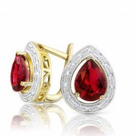 Серьги с рубинами и бриллиантами из розового золота VALTERA 94227