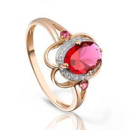 Кольцо с рубинами и бриллиантами из розового золота VALTERA 93383