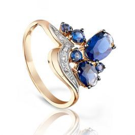 Кольцо с сапфирами и бриллиантами из розового золота VALTERA 96656