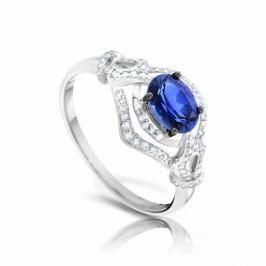Кольцо с сапфирами и бриллиантами из белого золота VALTERA 92599