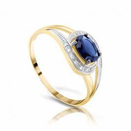 Кольцо с сапфирами и бриллиантами из розового золота VALTERA 94486