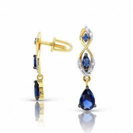 Серьги с сапфирами и бриллиантами из розового золота VALTERA 94096